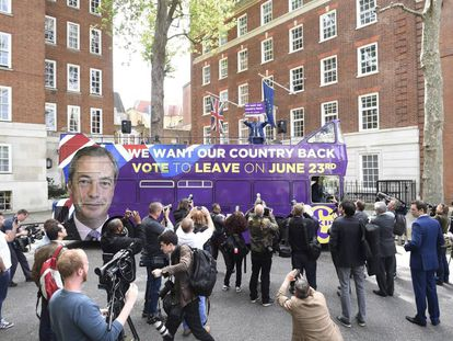 El líder del eurófobo Partido por la Independencia del Reino Unido (UKIP), Nigel Farage.