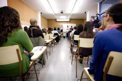 Interior de un aula.