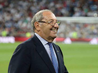 Paco Gento, presidente de honor del Real Madrid.