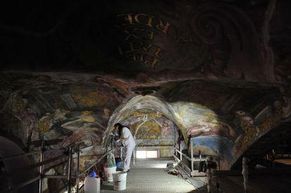 Trabajos de restauración de San Nicolás.