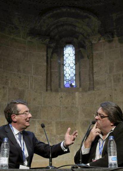Gerard Mortier junto a Jesús Ruiz Mantilla