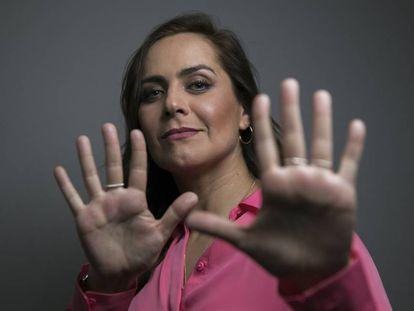 La humorista Natalia Valdebenito, el pasado martes en Madrid.