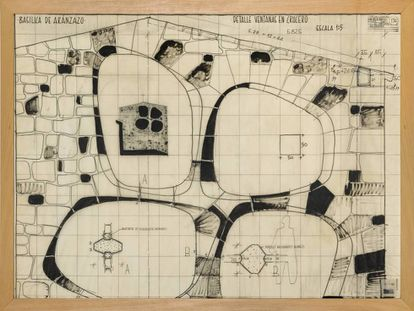 Plano de las ventanas de la basílica de Aránzazu.