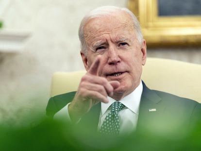 El presidente de EE UU, Joe Biden, este miércoles.