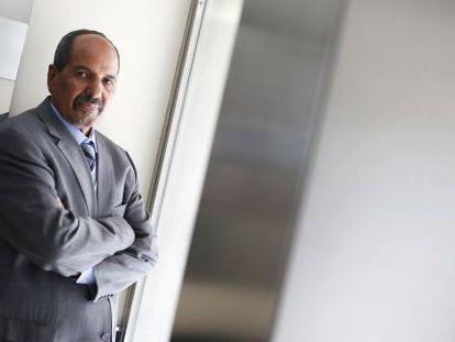 El secretario general del Frente Polisario, Mohamed Abdelaziz, secretario general del Frente Polisario, este viernes en la entrevista.