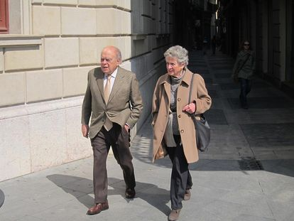 El expresidente de la Generalitat, Jordi Pujol, y su esposa, Marta Ferrusola.
