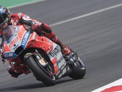Jorge Lorenzo, durante la clasificación en Montmeló.