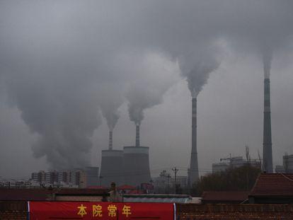 Una planta eléctrica alimentada por carbón en la provincia china de Shanxi, en una imagen de archivo.