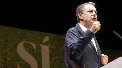 Zapatero, en un mitin del PSOE.