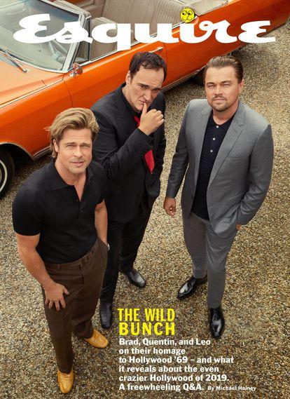 Portada de 'Esquire' con Brad Pitt, Quentin Tarantino y Leonardo DiCaprio en la que participó Águila.