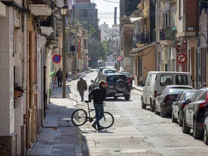Una de las calles del barrio del Cabanyal-Canyamelar.