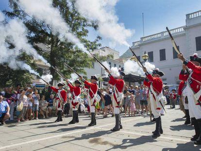 Celebración del tricentenario de la cesión de Gibraltar a Gran Bretaña.