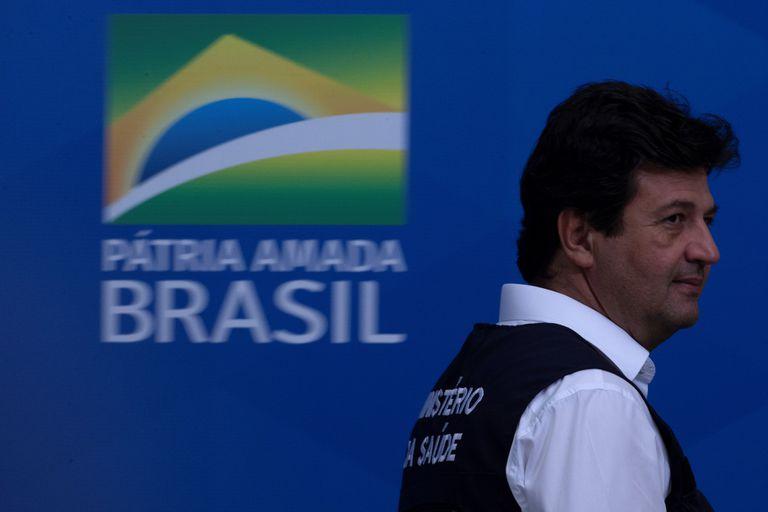 El ministro de Salud de Brasil, Luiz Henrique Mandetta, el pasado miércoles en Brasilia (Brasil)