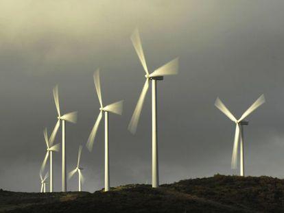 Parque eólico en Ourense