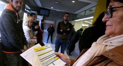 Una oficina de Correos en Madrid, el pasado 10 de diciembre.