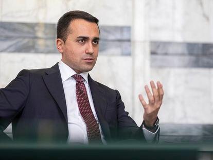 El Ministro de Asuntos Exteriores italiano, Luigi Di Maio, este miércoles durante la entrevista en Roma.
