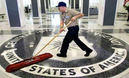 La entrada de la sede de la CIA en Langley (Virginia).