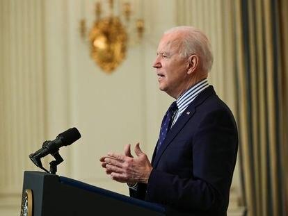 Joe Biden, el pasado sábado en la Casa Blanca.