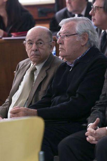 Félix Millet y Jordi Montull durante el juicio.