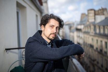 El director español Jonás Trueba, este jueves en París.