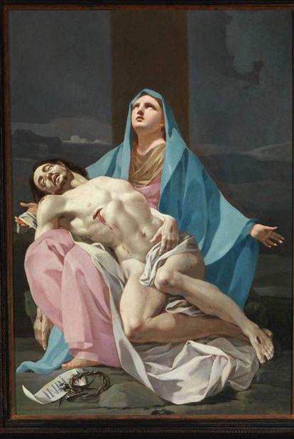 <i>Piedad, </i>óleo hasta ahora considerado de Bayeu y que Ansón Navarro atribuye a un joven Goya de 28 años.