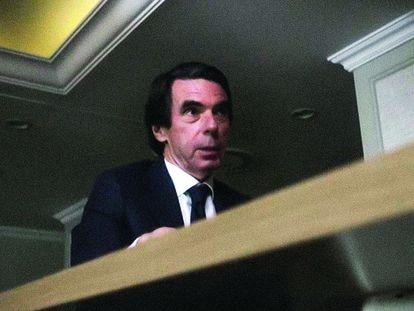 El expresidente del Gobierno José María Aznar, entrevistado por Jordi Évole en su programa 'Lo de Évole' de LaSexta con motivo del 25º aniversario de su triunfo electoral
