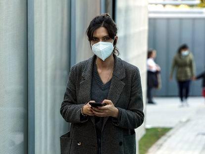 Sara Carbonero por las calles de Madrid, la semana pasada.