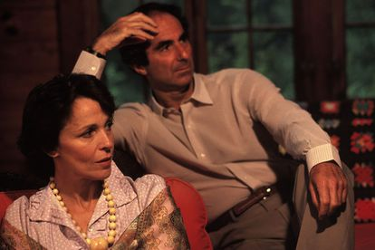 Philip Roth y Claire Bloom en su casa de Connecticut en1983.