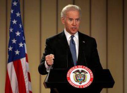 Biden en la Casa de Nariño cuando era vicepresidente, en una imagen de archivo.