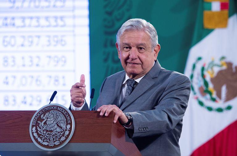 El presidente Andrés Manuel López Obrador, en su conferencia de prensa del martes.