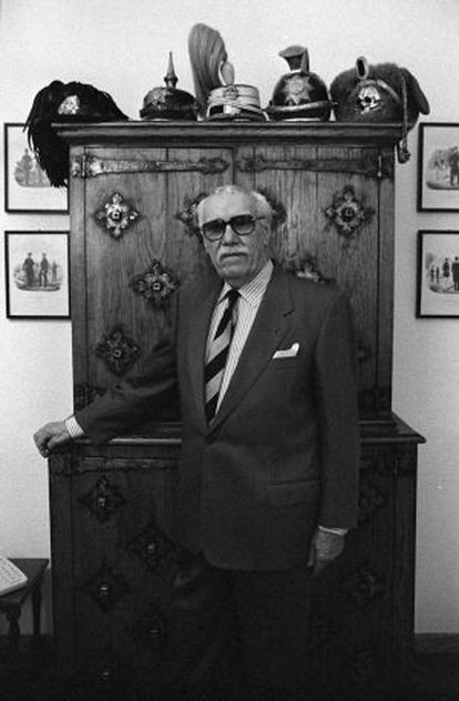 Sven Hassel, escritor, en 1996.