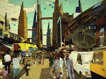 'Idumota Market. Lagos 2081', una de las obras de Wale Oyejide que se verán en 'Making Africa' del CCCB.
