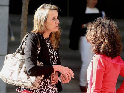 La juez Carmen Lamela, en la Audiencia Nacional.