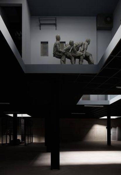 Uno de los espacios de 'Double bind', de Juan Muñoz.
