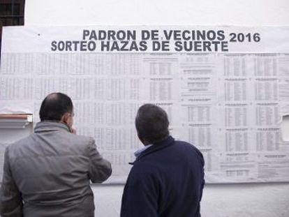 """El 22 de diciembre Vejer sortea las rentas que generan 3.500 hectáreas, repartidas en 232 hazas comunales, en una tradición """"única"""" de 728 años de antigüedad"""