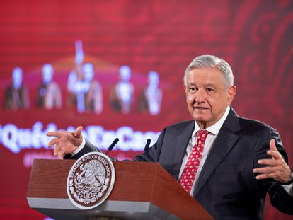 López Obrador, durante una rueda de prensa este martes.