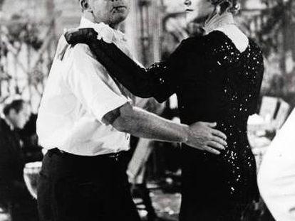 Billy Wilder y Jack Lemmon, durante el rodaje de 'Con faldas y a lo loco'.