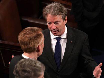 El senador Rand Paul, el pasado 30 de enero.