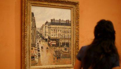 El cuadro 'Rue Saint-Honoré por la tarde. Efecto de lluvia' (1897), que reclama la familia Cassirer y que forma parte de la colección del Museo Thyssen-Bornemisza.