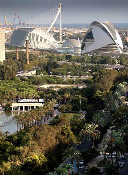 Una vista de la Ciudad de las Artes y las Ciencias, en una imagen tomada ayer.