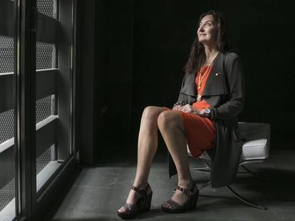May-Britt Moser, Premio Nobel de Medicina en 2014, el miércoles en Madrid.