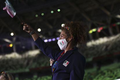 Una deportista mexicana, durante la inauguración de los Juegos Olímpicos de Tokio.