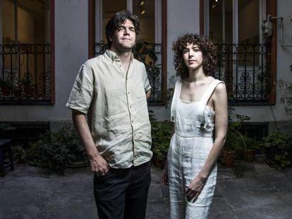 Jacobo y Brianda Fitz-James Stuart, en la galeria Espacio Valverde, de Madrid.
