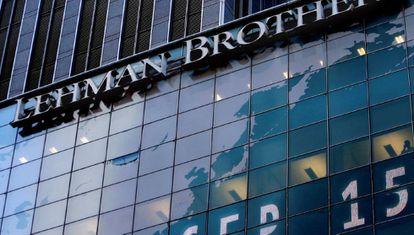 Una imagen de Lehman Brothers el 15 de septiembre de 2015