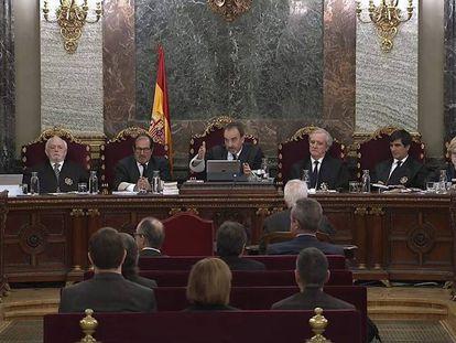 El tribunal del juicio del 'procés'.