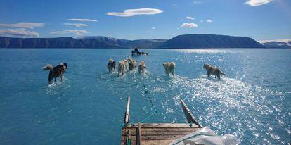 Fiordo de Inglefield Bredning, en Groenlandia.