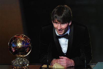 Leo Messi, ganador del Balón de Oro 2010.