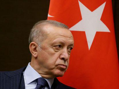El presidente turco, Recep Tayyip Erdogan, en Sochi (Rusia), en septiembre.