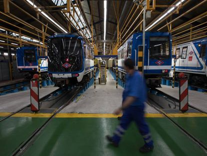 Talleres de Metro en Canillejas, sede en la que se realizan las labores de desamiantado.