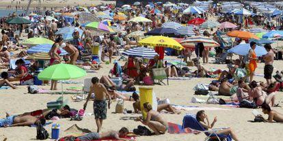 Playa de Ondarreta de San Sebastián, en el País Vasco